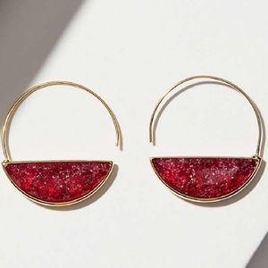 LOFT Pull Through Stone Earrings